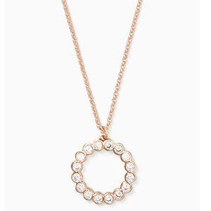 Kate Spade Circle CubicZirconia Rose Gold Necklace